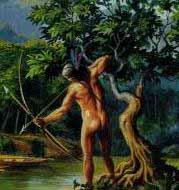 pêcheur amérindien